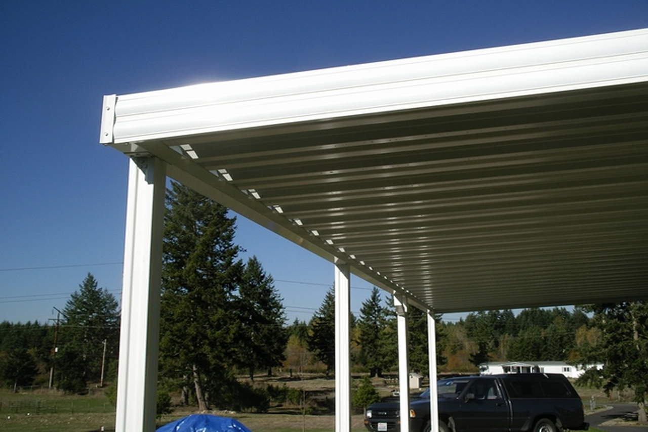 Image of: Outdoor Aluminum Patio Roof