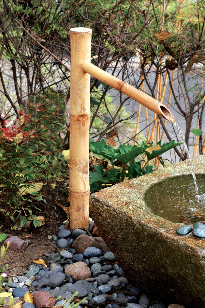 Image of: Outdoor Bamboo Fountain Kit