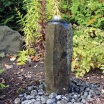 Outdoor Basalt Column Fountain