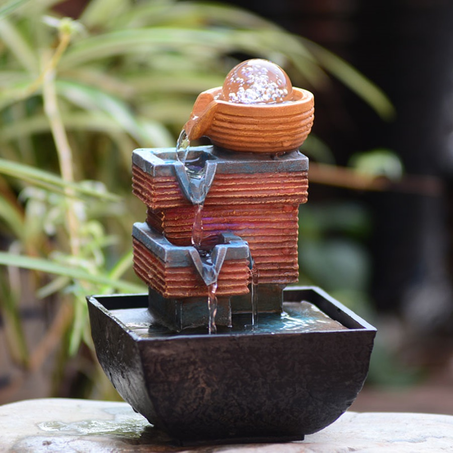 Image of: Outdoor Battery Operated Water Fountain