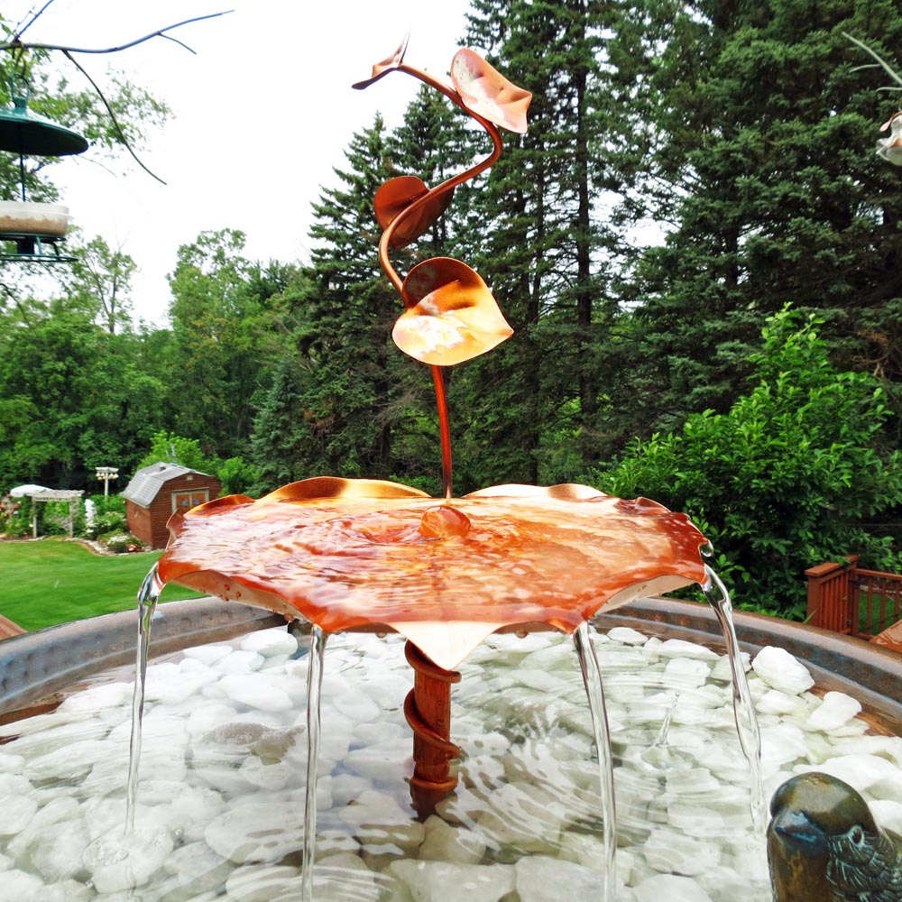 Image of: Outdoor Copper Water Fountain