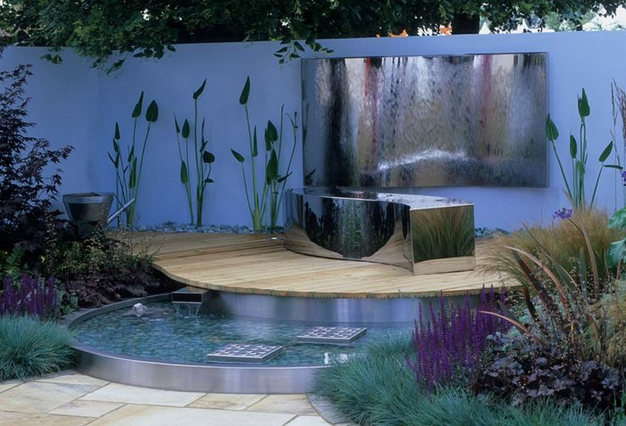 Image of: Patio Deck Fountains