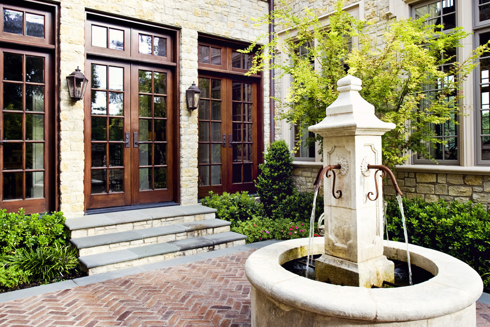 Image of: Paver Courtyard Fountains