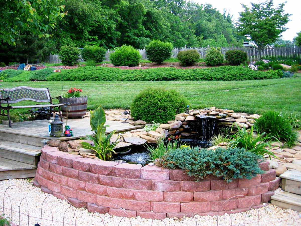 Image of: Perfect Backyard Fountain Ideas