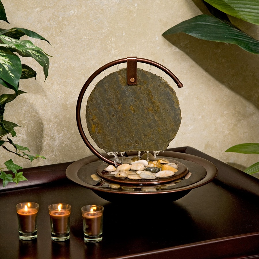 Picture Battery Operated Tabletop Water Fountain