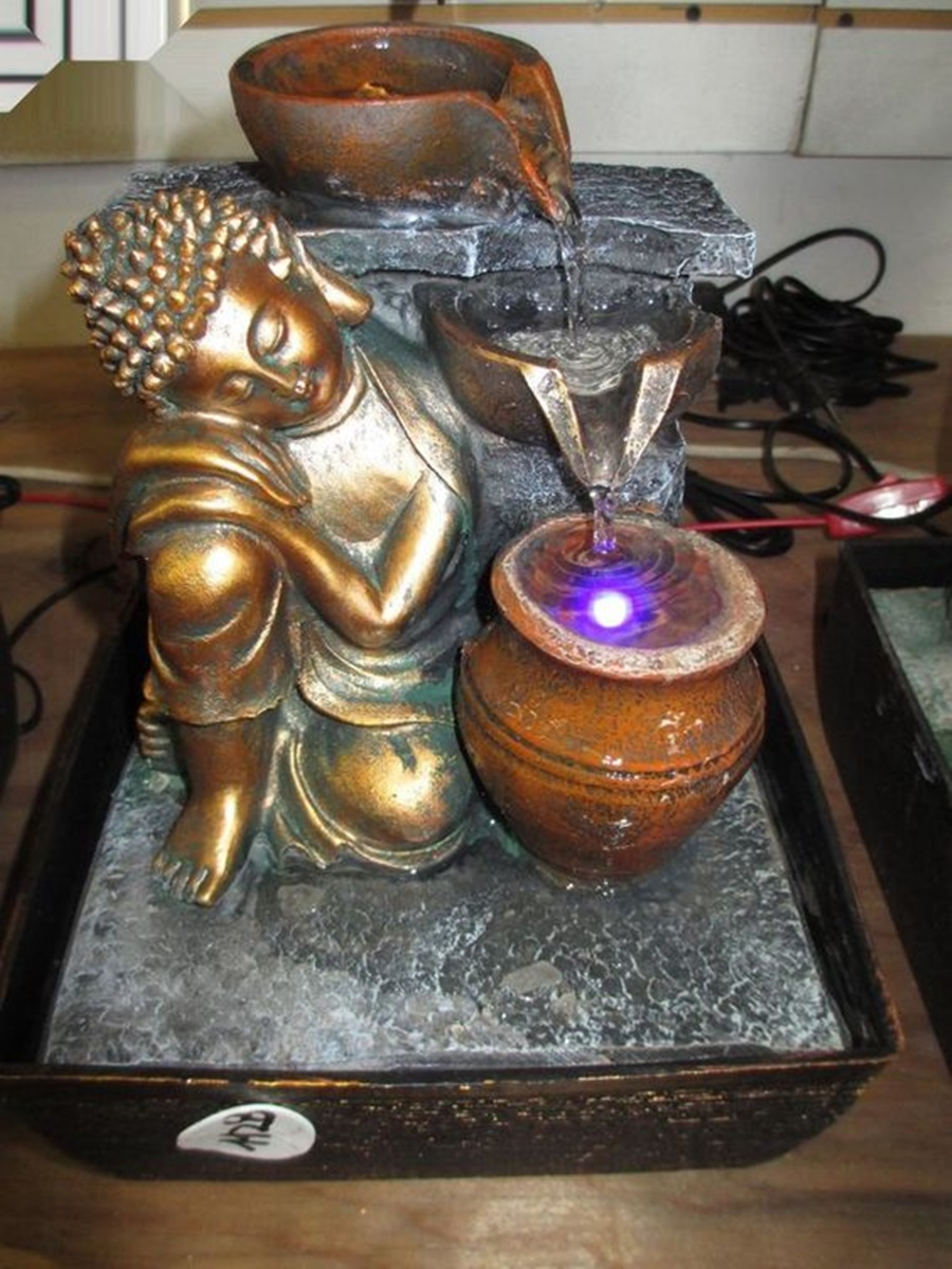 Image of: Picture Tabletop Buddha Water Fountain