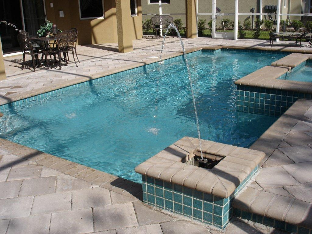Image of: Pool Deck Fountains