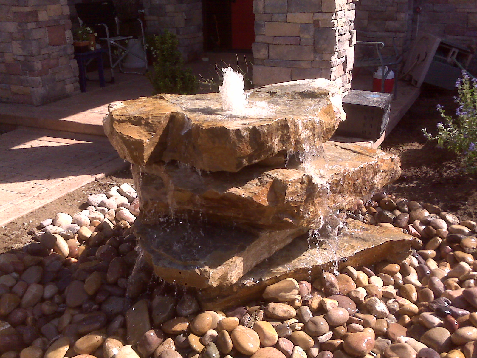 Image of: Popular Boulder Fountain