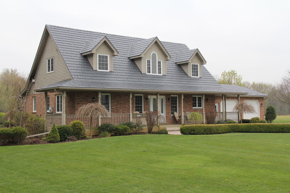 Image of: Popular Charcoal Gray Metal Roof