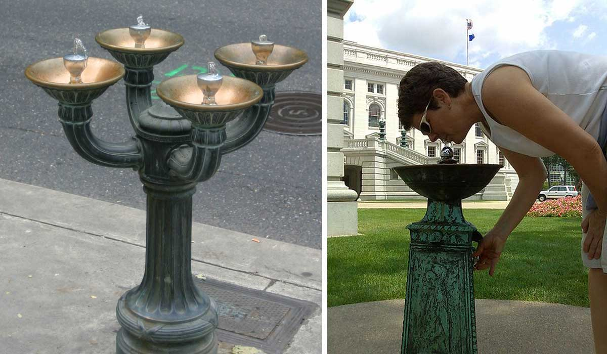 Image of: Public Bubbler Drinking Fountain