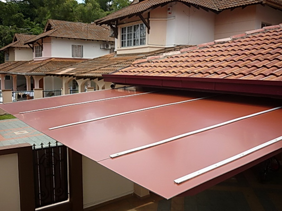 Red Aluminum Roofing Panels