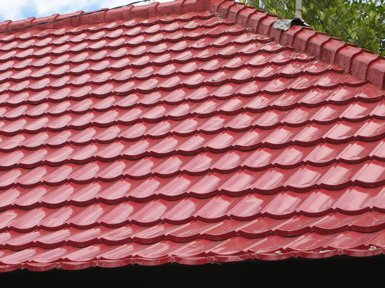 Image of: Red Clay Roof Tiles Home Depot