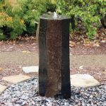 Single Basalt Column Fountain