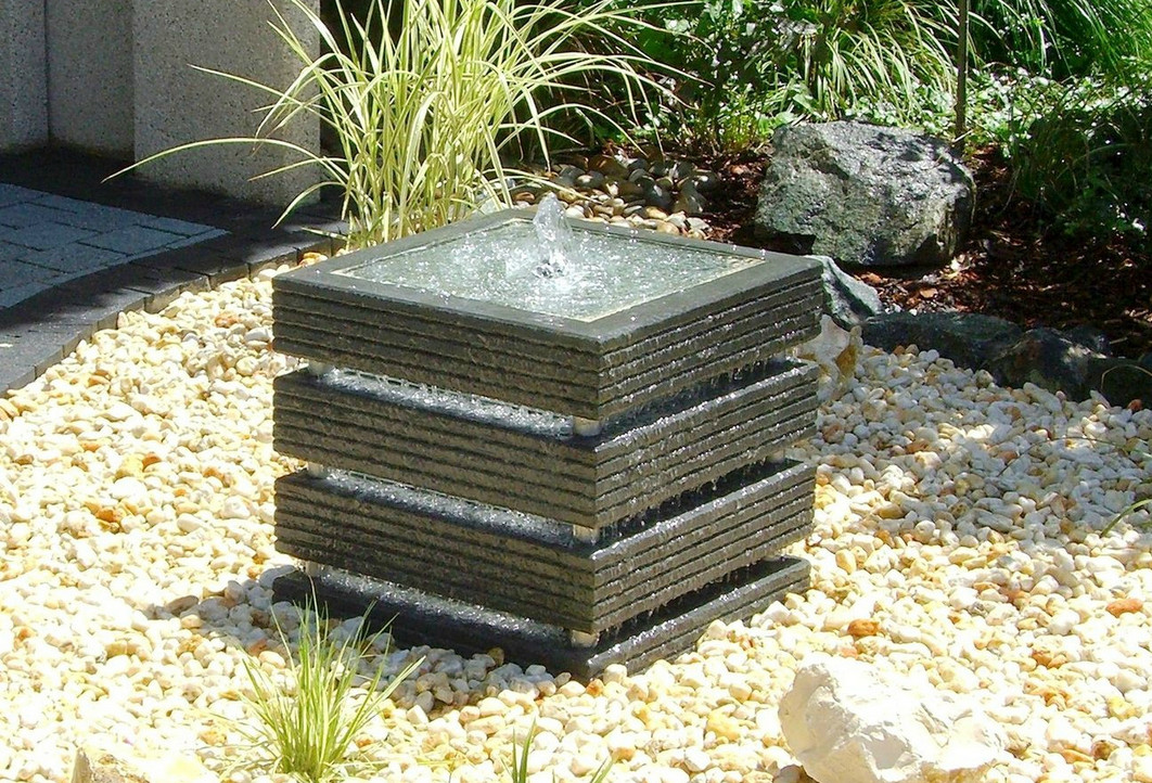 Image of: Square Contemporary Fountains