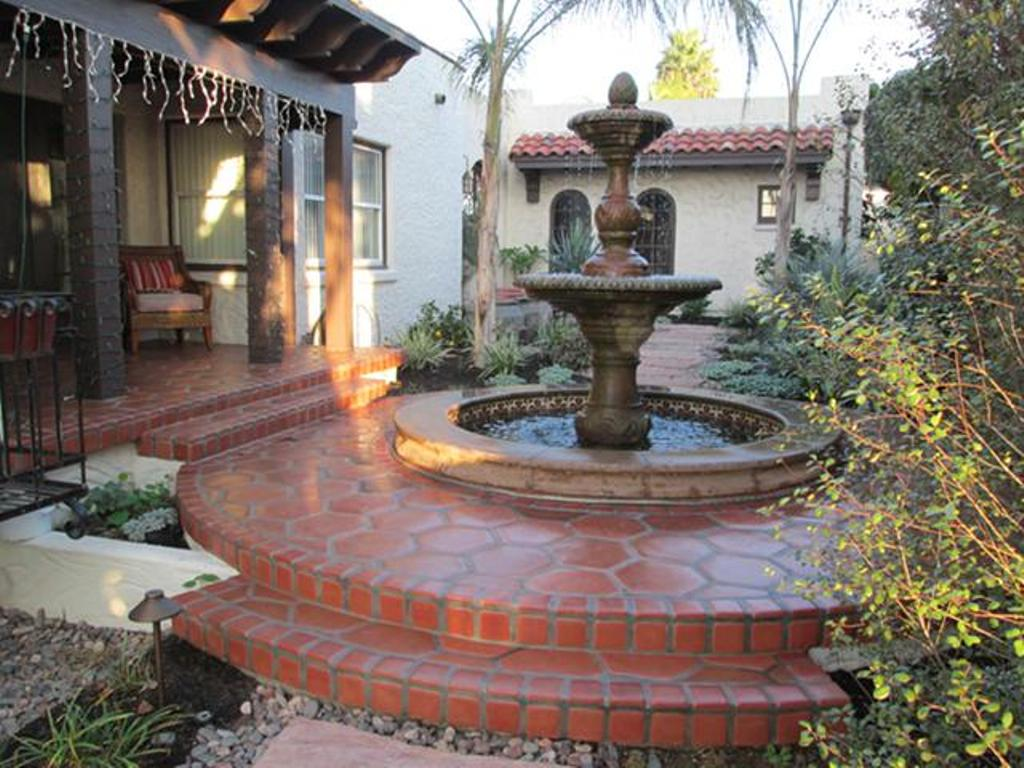 Image of: Stone Fountains Santa Barbara