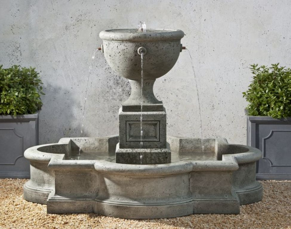 Image of: Stone Fountains for Outdoor Garden