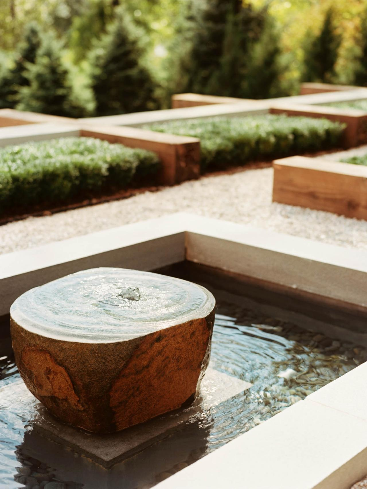 Image of: Stone Water Courtyard Fountains