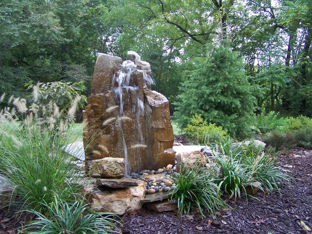 Image of: Stones Bubbling Fountain