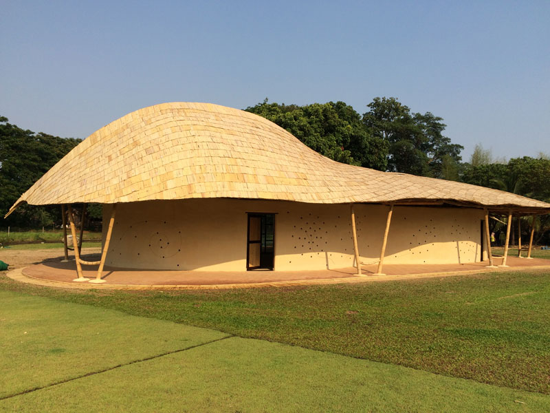 Image of: Stylish Bamboo Roof