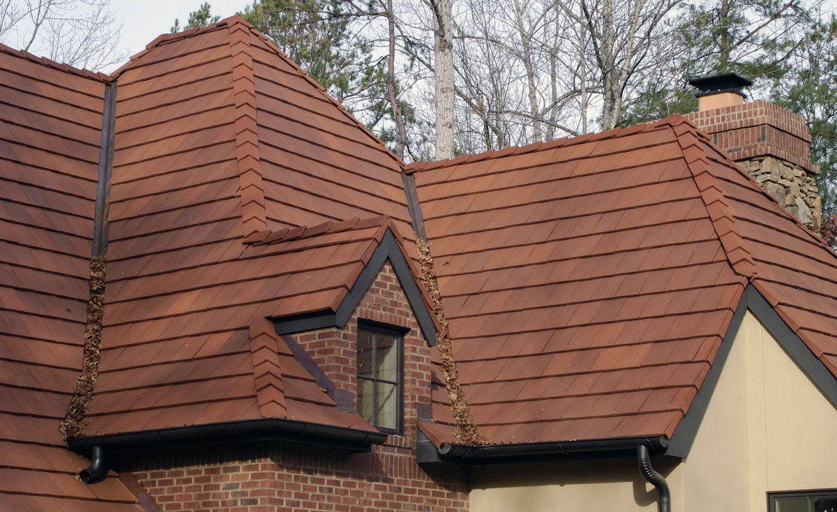 Image of: Stylish Ceramic Roof Tile