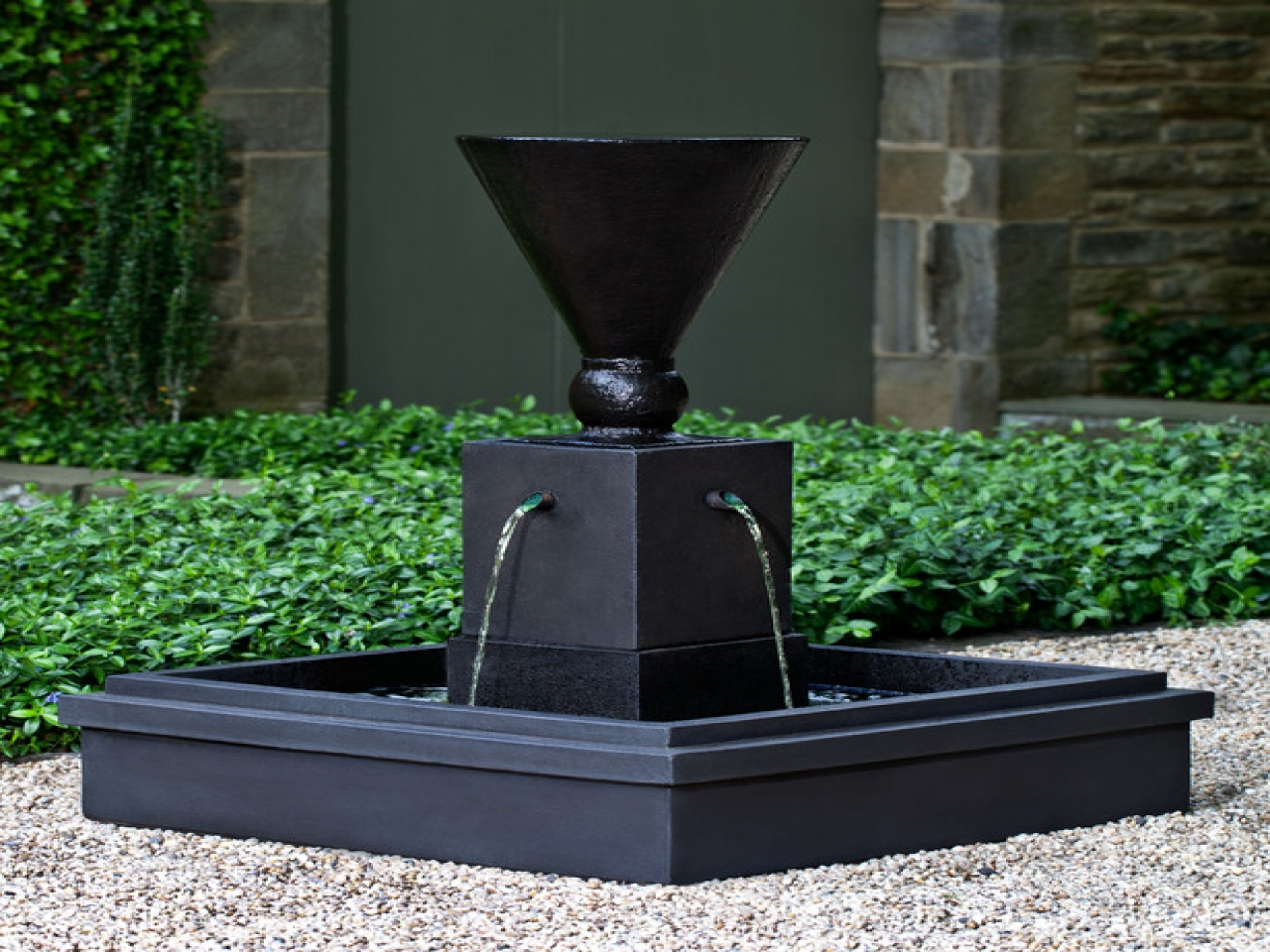 Image of: Stylish Contemporary Outdoor Water Fountains