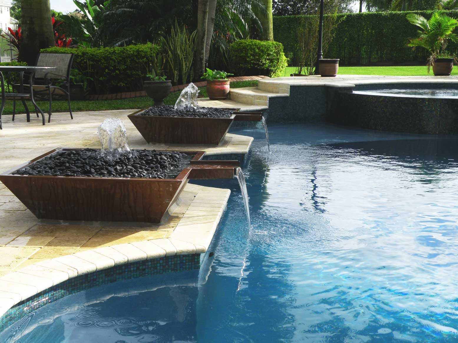 Image of: Swimming Above Ground Pool Fountain