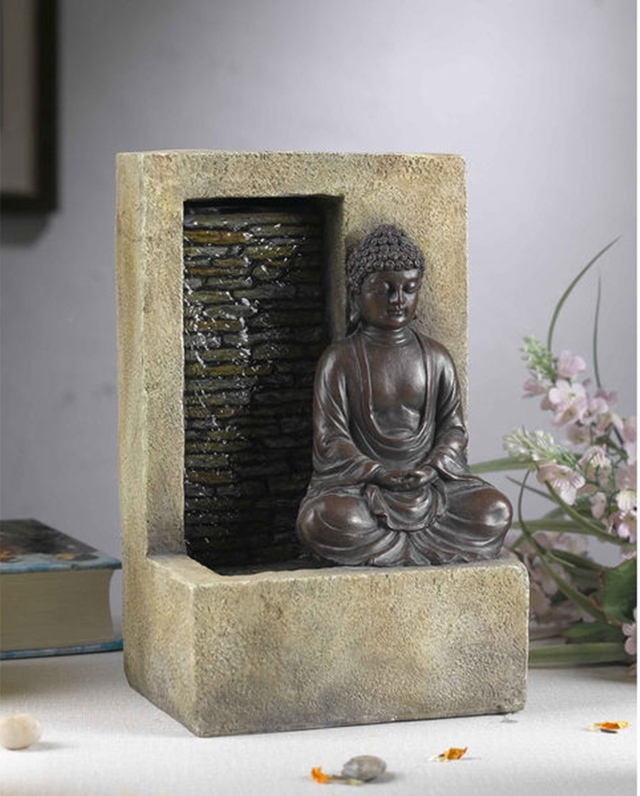 Image of: Tabletop Buddha Water Fountain Design