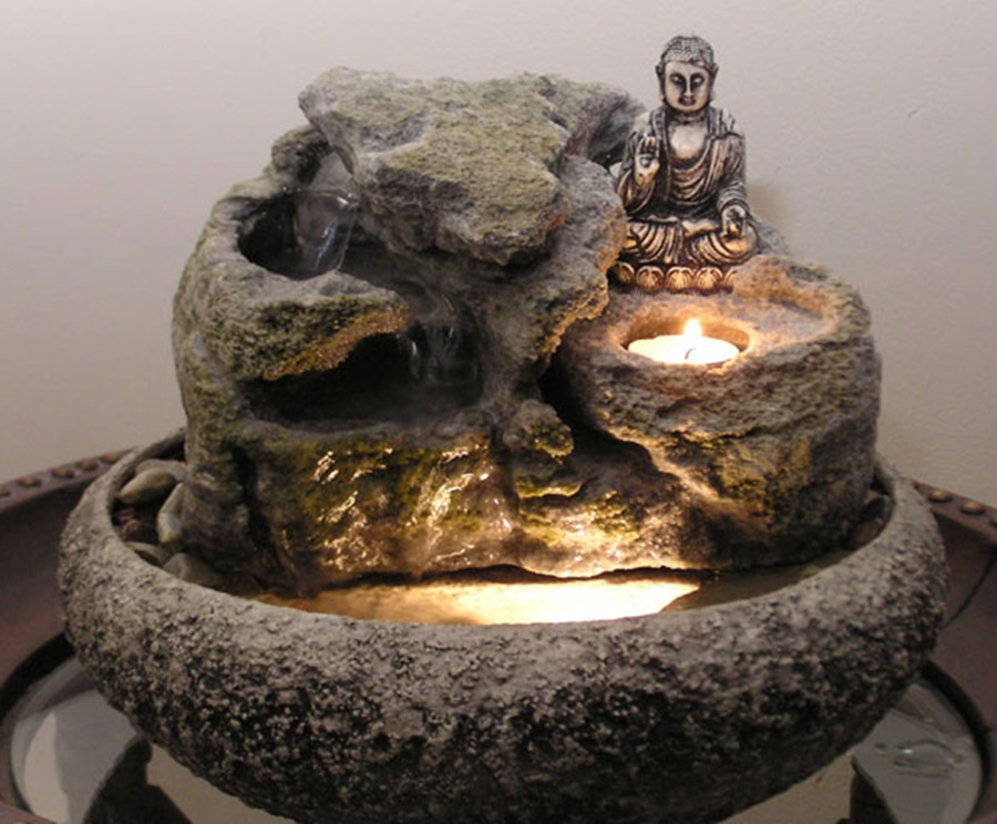 Image of: Tabletop Buddha Water Fountain Style
