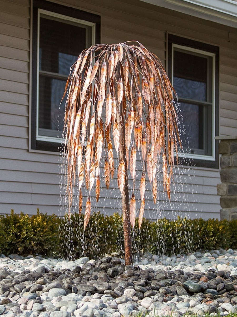 Image of: Tree Copper Water Fountain