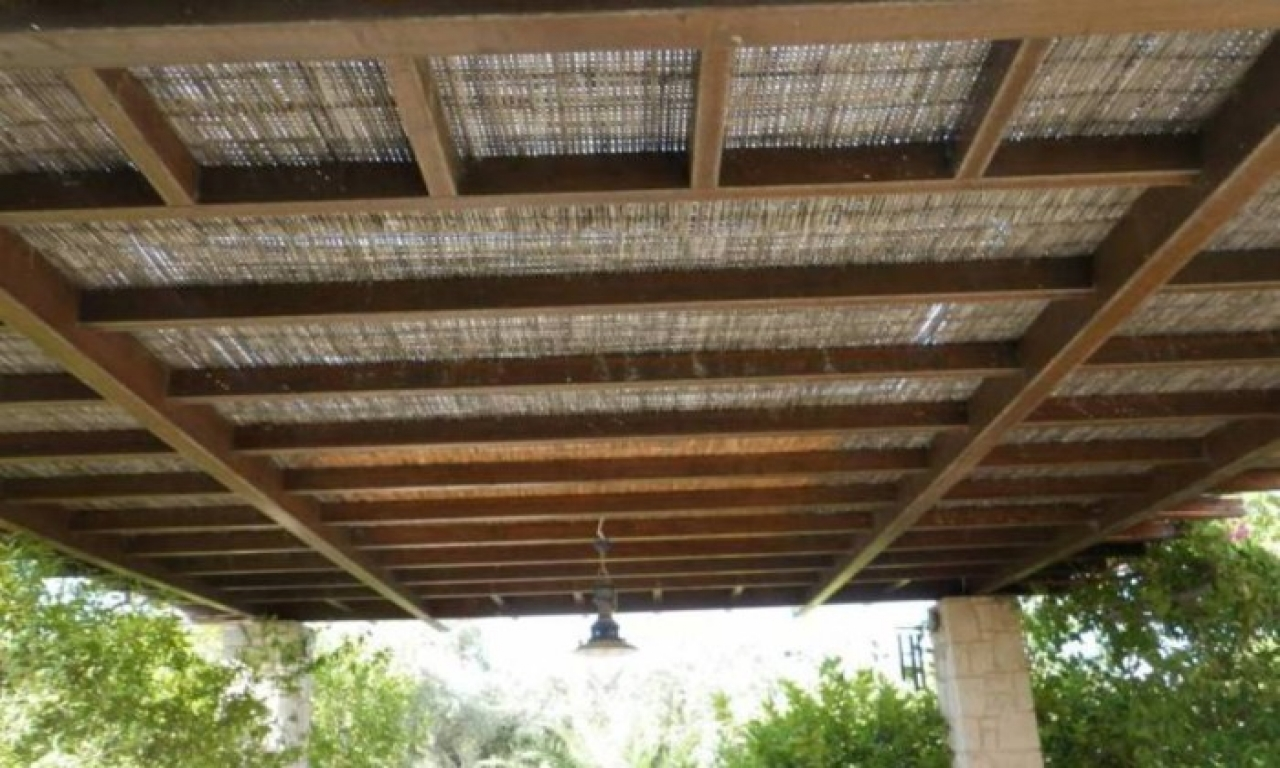 Image of: Vintage Bamboo Roof