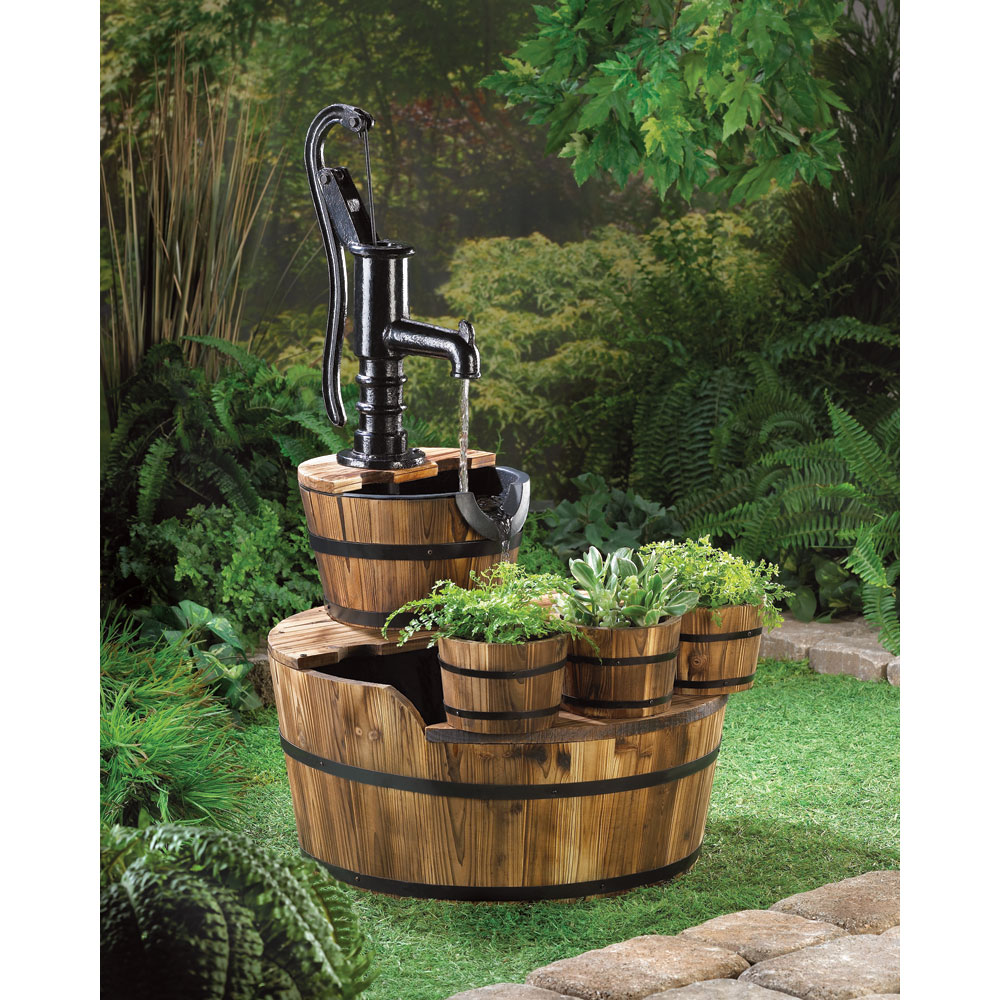 Image of: Vintage Barrel Fountain
