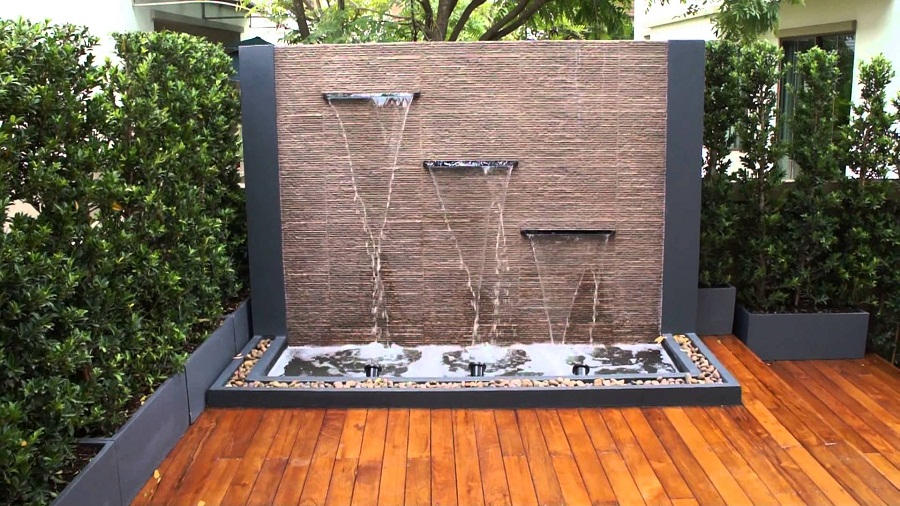 Image of: Wall Deck Fountains