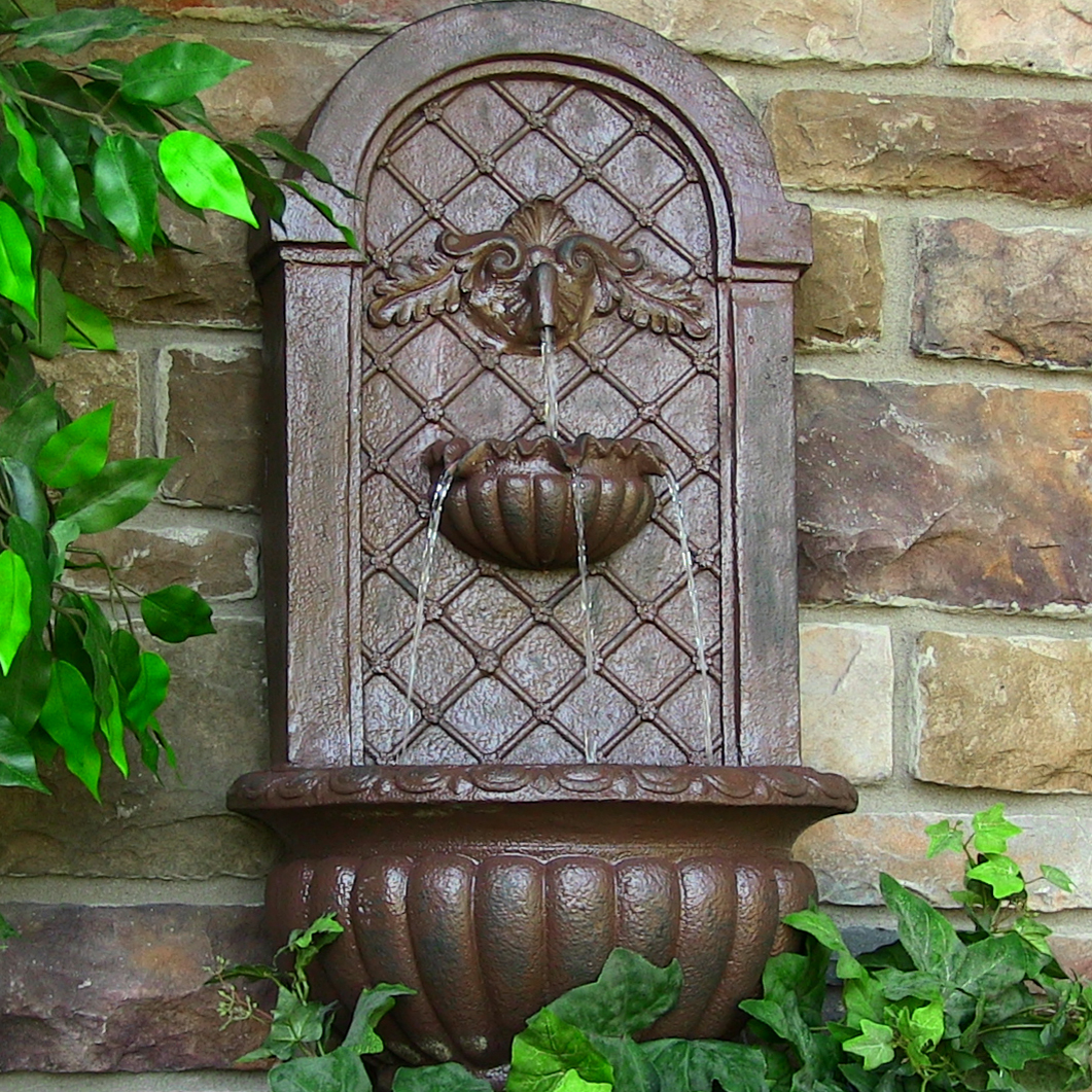 Image of: Wall Decorative Outdoor Water Fountains