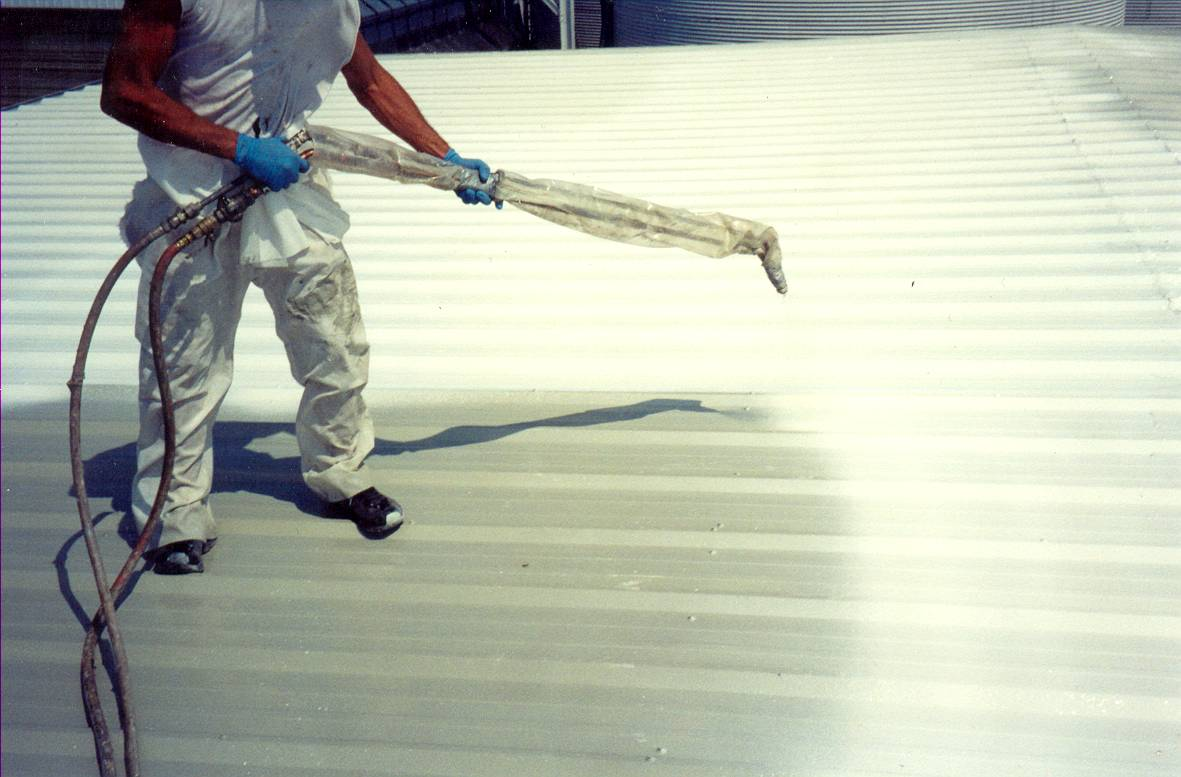 Image of: White Cool Roof Coating