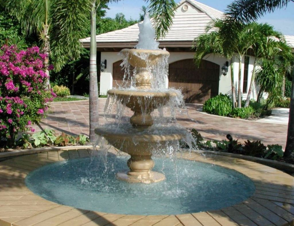 Image of: Wonderful Backyard Fountain Ideas