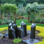 Wonderful Basalt Column Fountain
