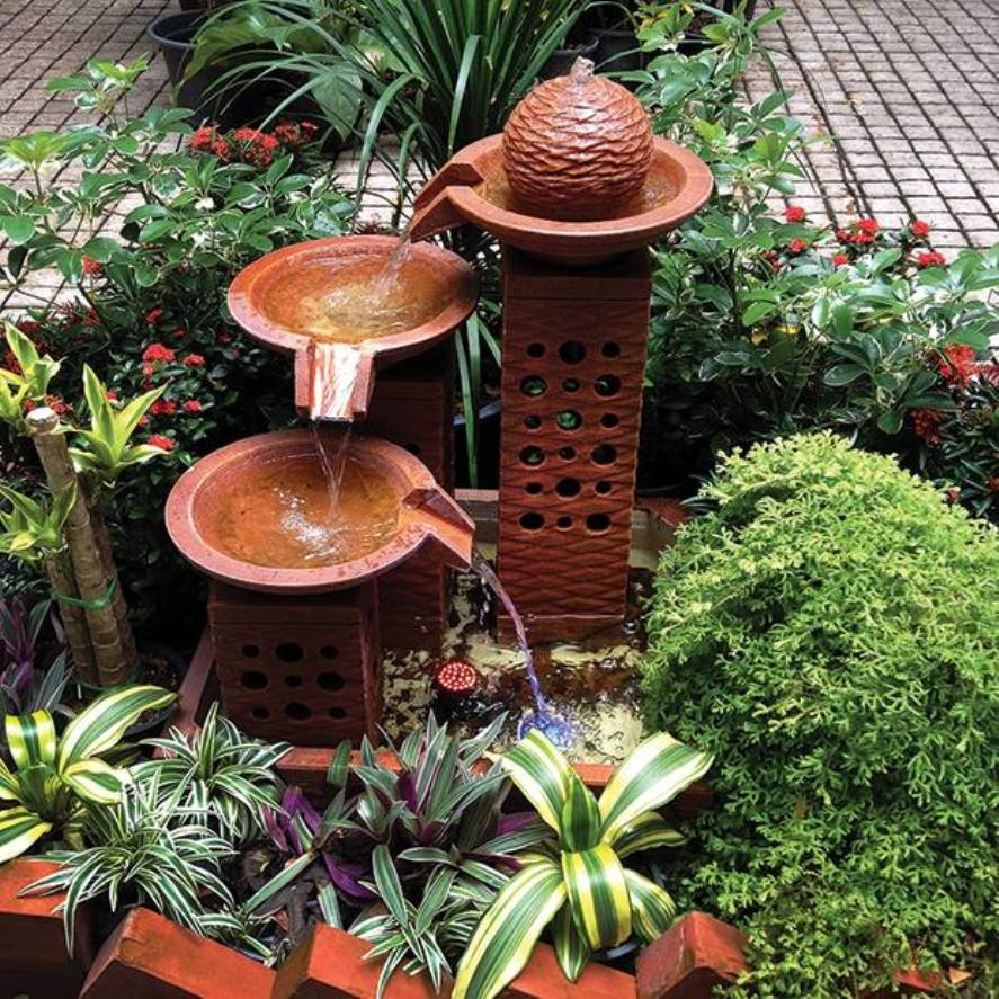 Image of: Wonderful Copper Water Fountain