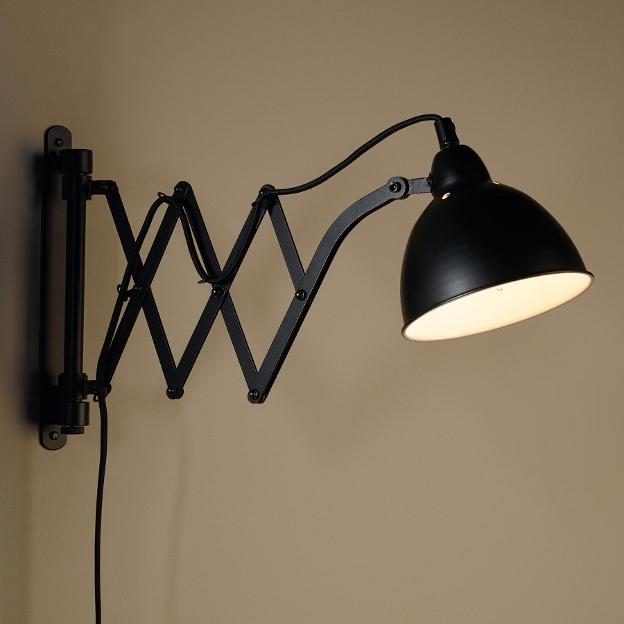 Image of: Accordion Black Sconce Lights