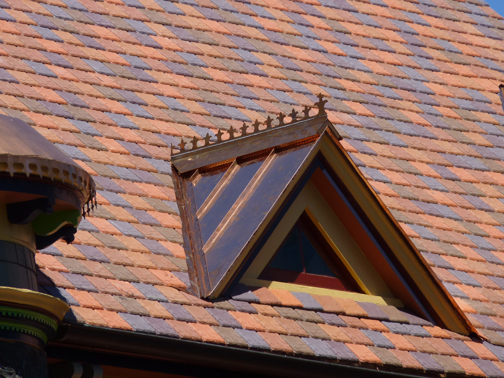 Image of: Amazing Copper Roof Shingles