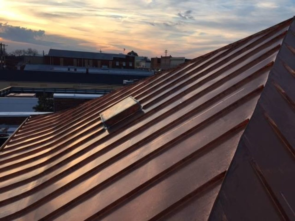 Amazing Copper Standing Seam Roof
