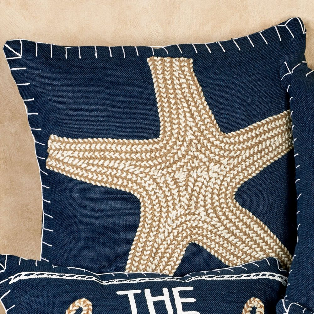 Image of: Amazing Navy Throw Pillows