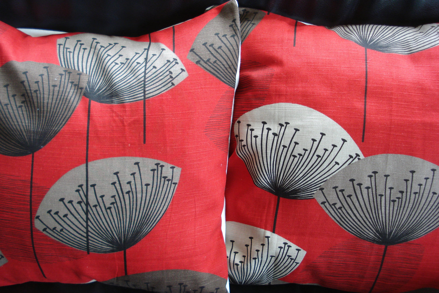 Amazing Red And Grey Throw Pillows
