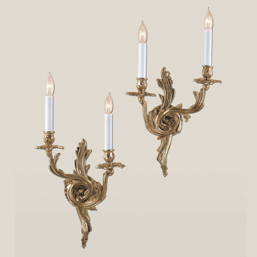 Image of: Antique Brass Candle Sconces