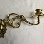 Antique Candle Holder Brass