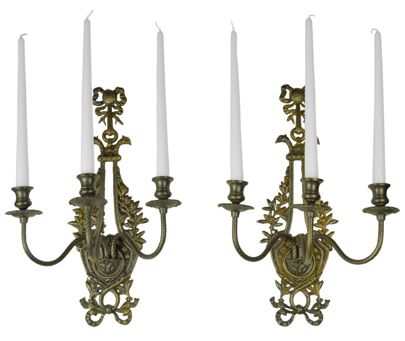 Image of: Antique Candle Sconces Rustic
