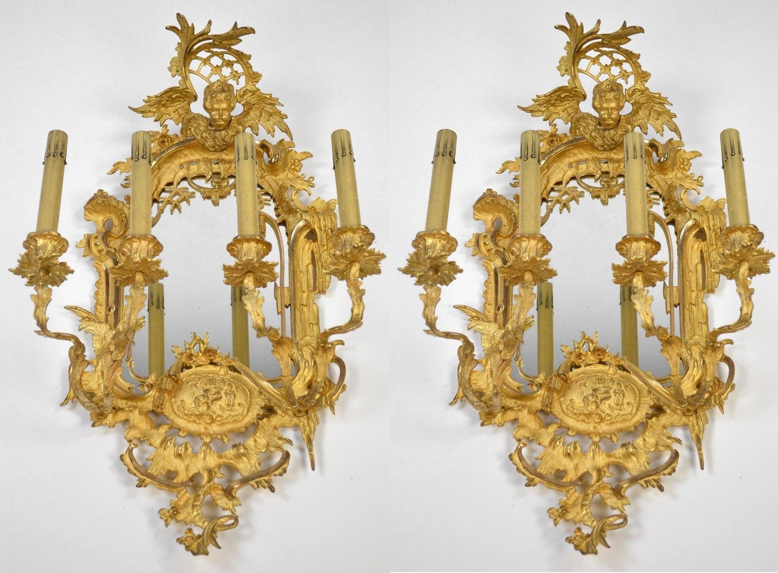 Image of: Antique French Sconces