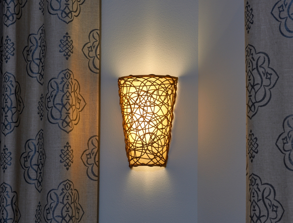 Image of: Art Glass Battery Operated Wall Sconces