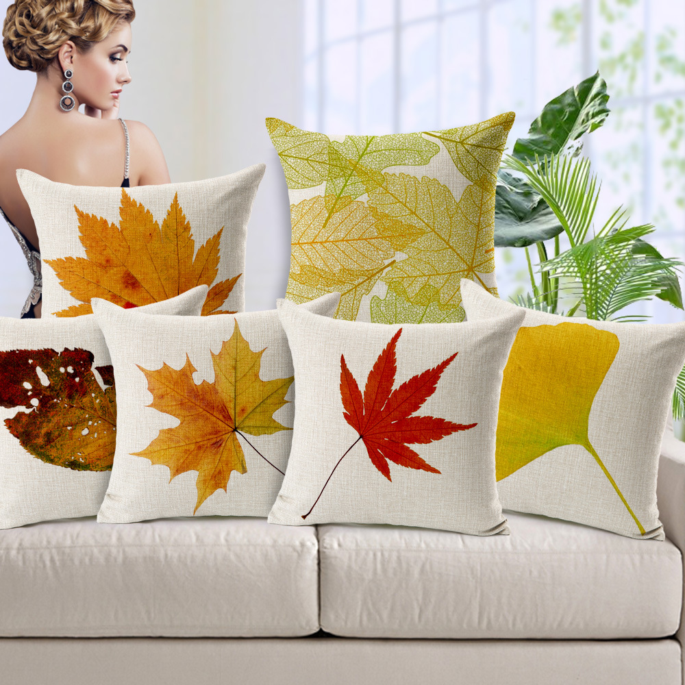 Image of: Autumn Leaf Throw Pillows