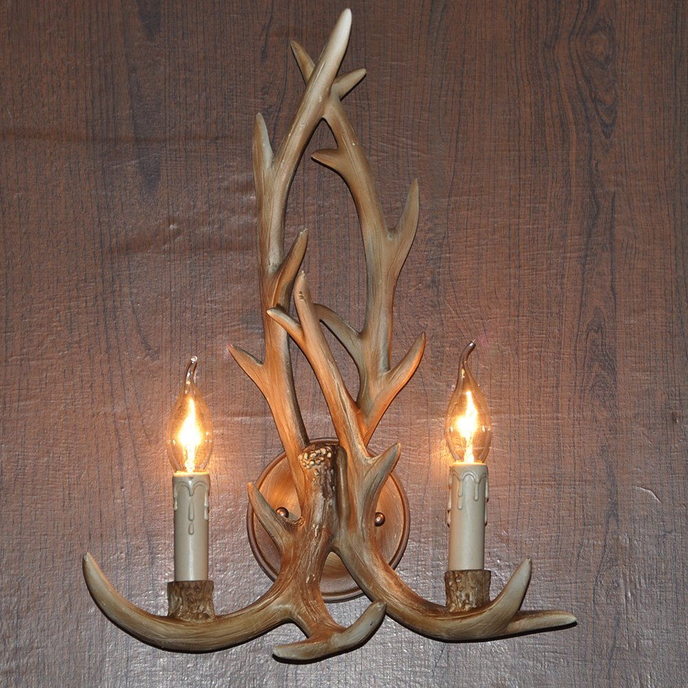 Image of: Awesome Antler Sconces