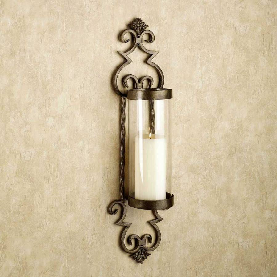 Image of: Awesome Bronze Candle Sconces